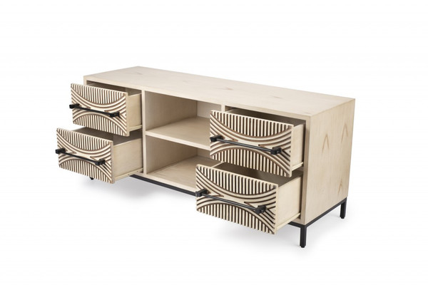 Dalvin 4 Drawers Tv Stand 389232 By Homeroots