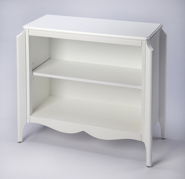 Wilshire Glossy White Bookcase 389567 By Homeroots