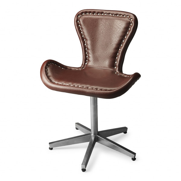 Modern Leather Accent Chair 389602 By Homeroots