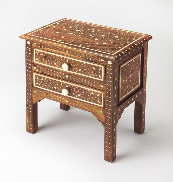 Chevrier Wood & Bone Inlay Accent Chest 389737 By Homeroots