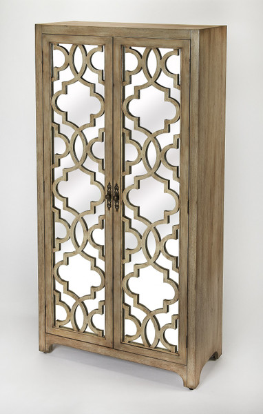 Morjanna Greige Mirrored Armoire 389798 By Homeroots