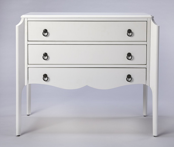 Wilshire Glossy White Accent Chest 389803 By Homeroots