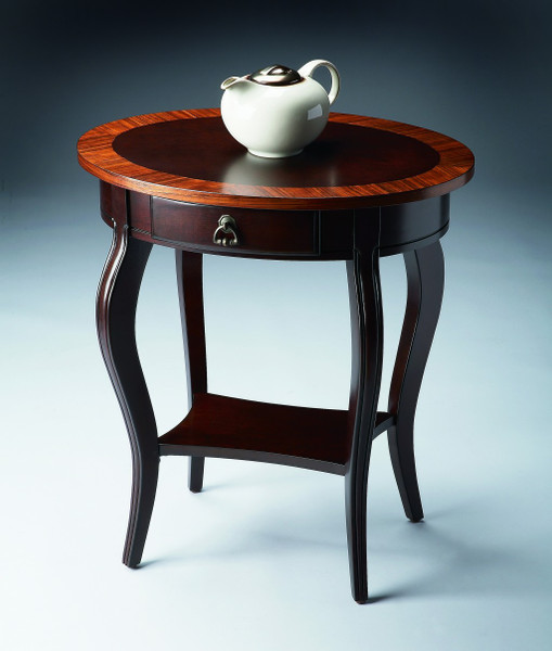Jeanette Cherry Nouveau Oval Accent Table 389904 By Homeroots