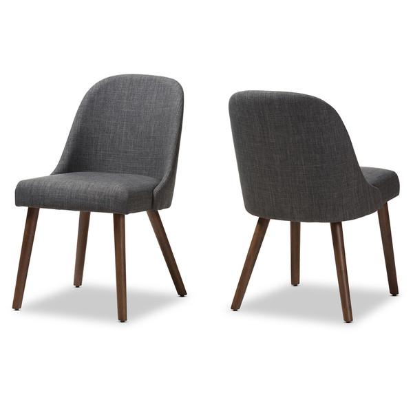 Baxton Studio Cody Mid-Century Modern Dining Chair (Set Of 2) Cody-Dark Grey-DC