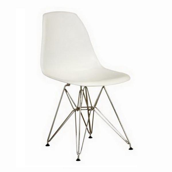 Baxton Studio Azzo White Plastic Side Chair - (Set of 2) DC-231-white