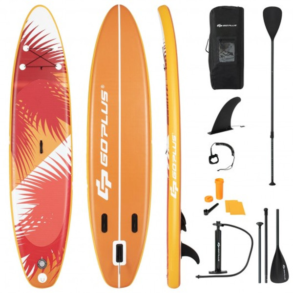 11' Inflatable Stand Up Board With Aluminum Paddle Pump SP37553-L