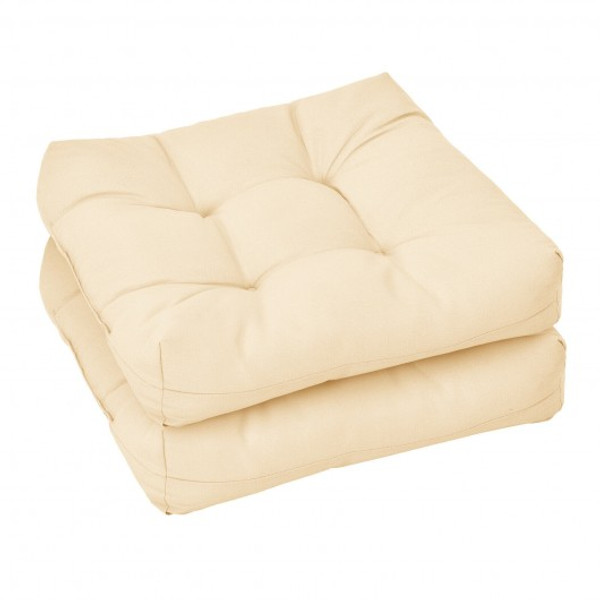 21 Inch X 21 Inch Patio Chair Seat Cushion Pads For Indoor And Outdoor-Beige HW67234BE