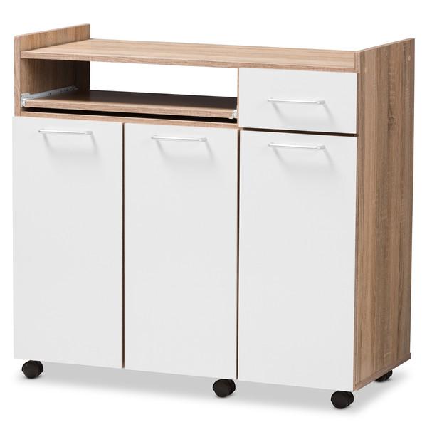 Baxton Studio Edonia Modern And Contemporary Kitchen Cabinet
