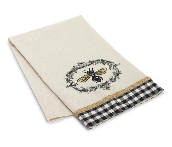 """Melrose Bee Tea Towel (Set Of 6) 27.25"""" X 17"""" Polyester 78783DS"""