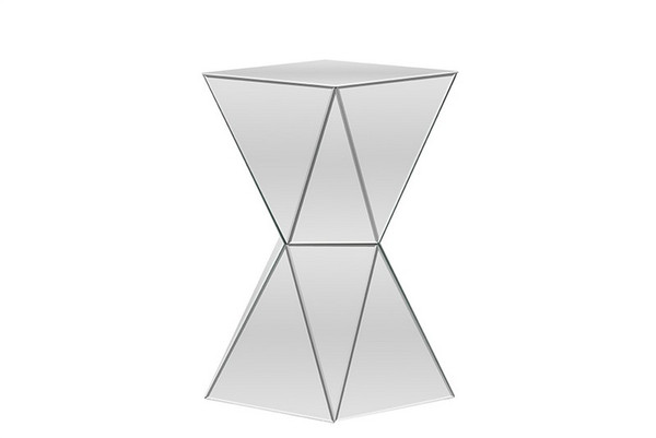 Baxton Studio Rebecca Multi - Faceted Mirrored Side Table RS1764