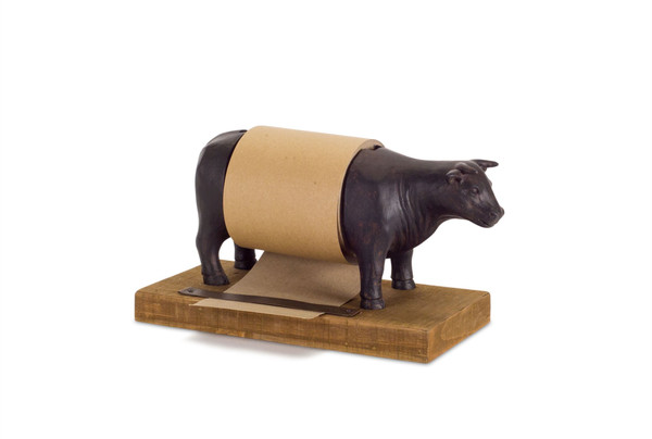 """Cow Paper Roll 10"""" X 6""""H Resin 74262Ds By Melrose"""