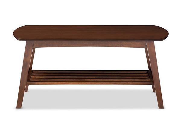 Baxton Studio Sacramento Style Dark Walnut Coffee Table RT295A-OCC