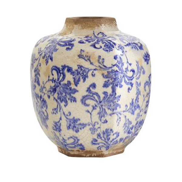 """8.5"""" Nautical Ceramic Decorative Vase 0722-S1 By Nearly Natural"""