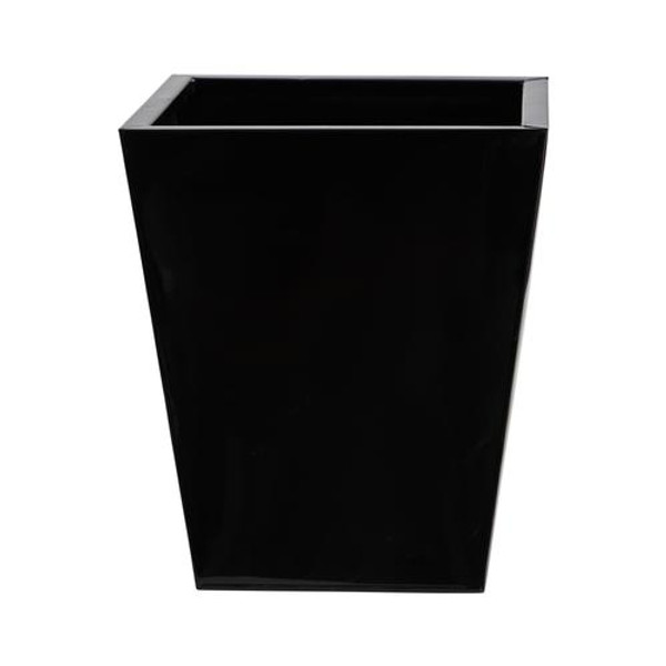 """15"""" Classic Square Metal Planter 0815-MD-S1-BK By Nearly Natural"""