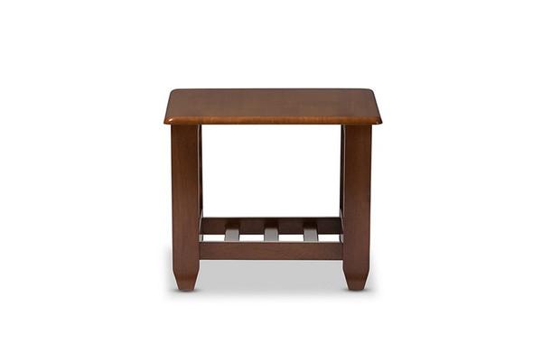 Baxton Studio Larissa Cherry Livingroom Occasional End Table SW5218-Cherry-TS2-ET