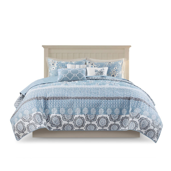 Willa 6 Piece Reversible Coverlet Set - King/Cal King By Madison Park MP13-7346