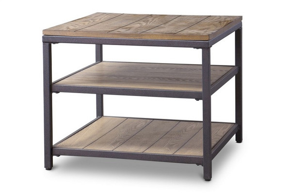 Baxton Studio Caribou Wood and Metal End Table YLX-0005-AT