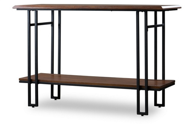 Baxton Studio Newcastle Wood and Metal Console Table YLX-2646-ST