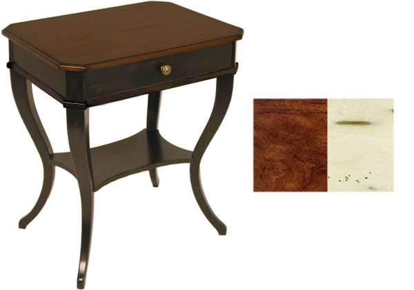 AB-1220-W Table With Shaped Legs Ab-1220-W By Accents Beyond
