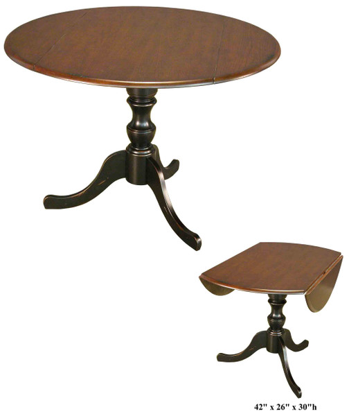 AB-1502-B Round Drop Leaf Table Ab-1502-B By Accents Beyond