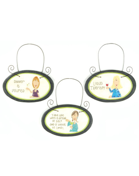 1188-50829 Blossom Bucket Set of 3 Wine Tags - Pack of 4