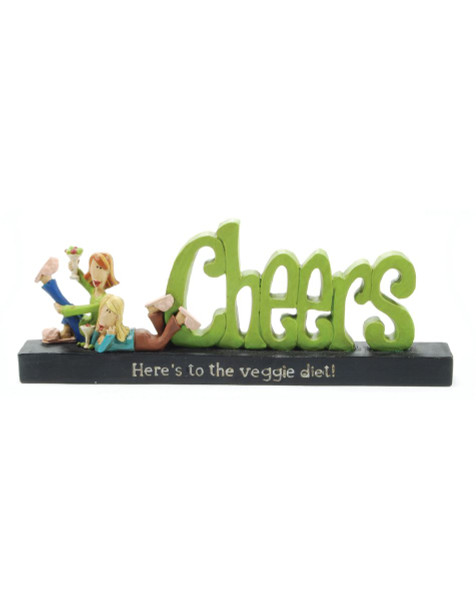 """1188-84002 Blossom Bucket """"Cheers"""" Statue - Pack of 8"""