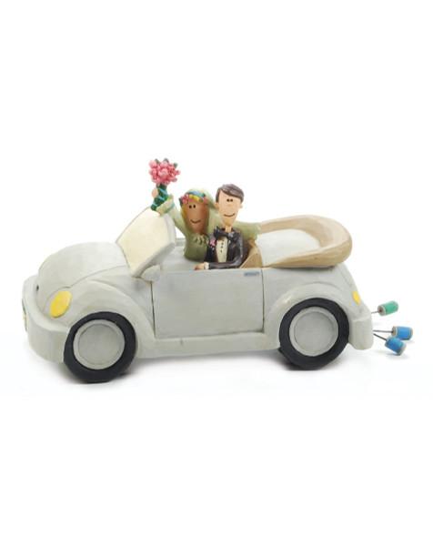 1188-84003 Blossom Bucket Bride & Groom In Car - Pack of 4