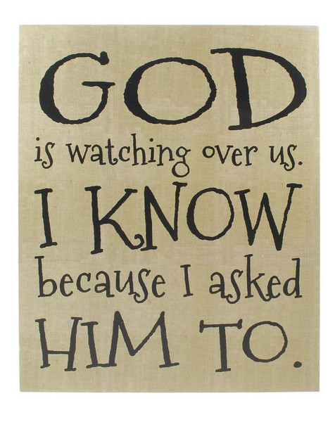 1211-36098 God Is Watching Wall Box Hanging Sign - Pack of 4