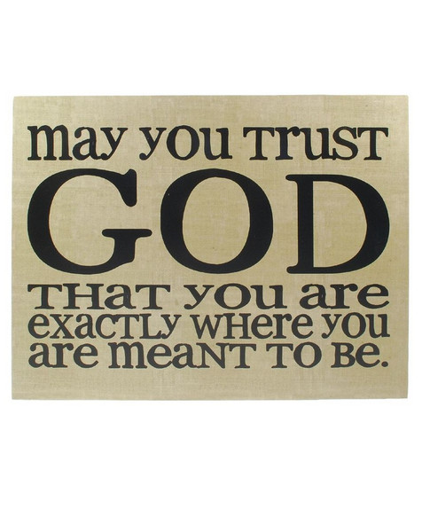 1211-36099 Trust God Wall Box Hanging Sign - Pack of 4