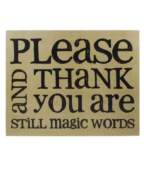1211-36109 Please / Thank You Wall Box Hanging Sign - Pack of 4