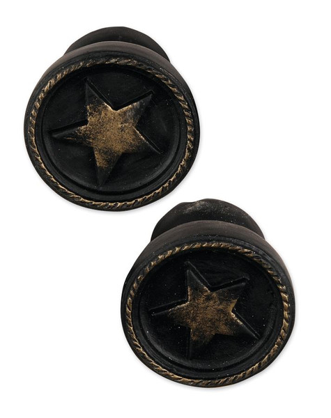 1211-51553 Set of 2 Large Star Knob Embellishments - Pack of 13