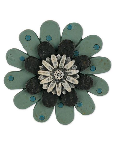 1211-51557 Blossom Bucket Green Flower Embellishment - Pack of 13