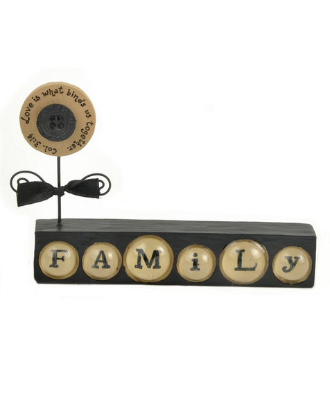 1211-86579 Love Binds Together Black Family Block - Pack of 6