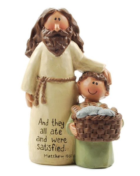 1211-87512 They All Ate Jesus And Boy With Basket - Pack of 6