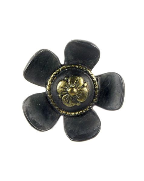 1211-87624 Blossom Bucket Mini Button Flower Magnet - Pack of 17