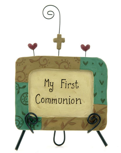 123-84470 My First Communion Tan Plaque On Easel - Pack of 6