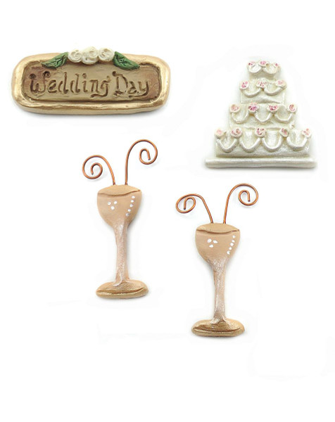 124-33373 Scrapper Sets-Set of 4 Wedding Day Accessories-Pack of 9