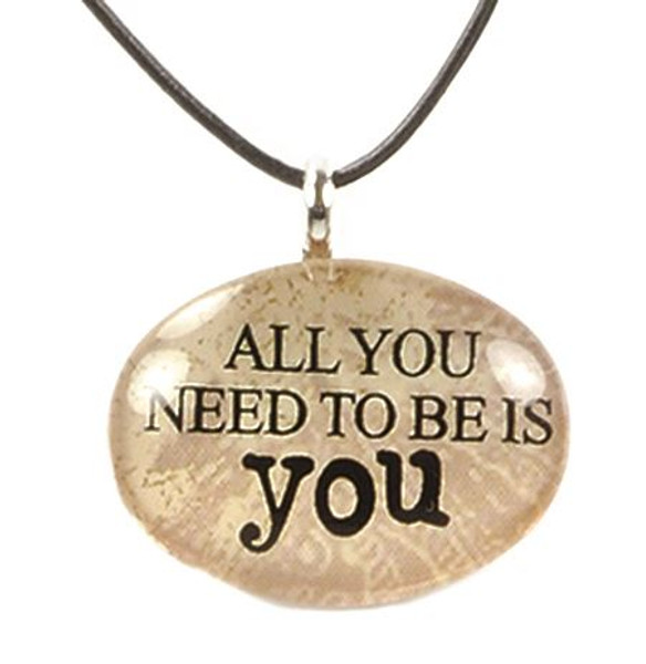 124-51824 All You Need To Be Is You Oval Necklace - Pack of 11