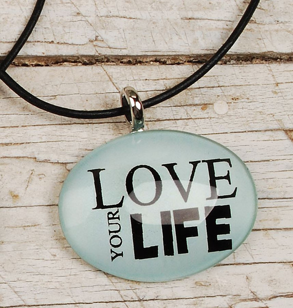 124-51840 Blossom Bucket Love Your Life Oval Necklace - Pack of 11