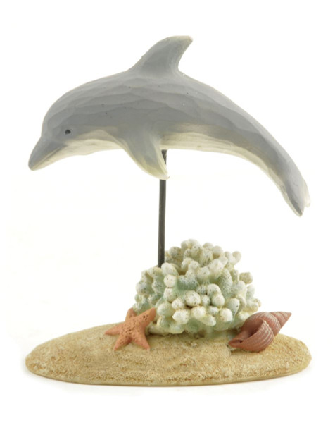 124-85284 Blossom Bucket Dolphin With Coral & Shells - Pack of 7