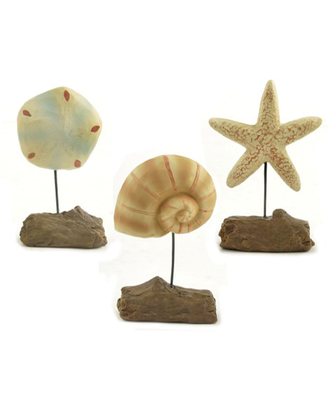 """124-85286 """"Set of 3 Starfish, Shell, & Sand Dollar"""" - Pack of 3"""