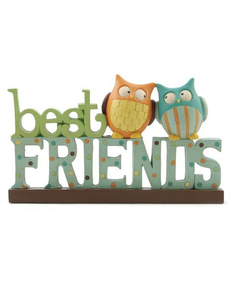 1266-86854 Blossom Bucket Best Friends With Owls - Pack of 6