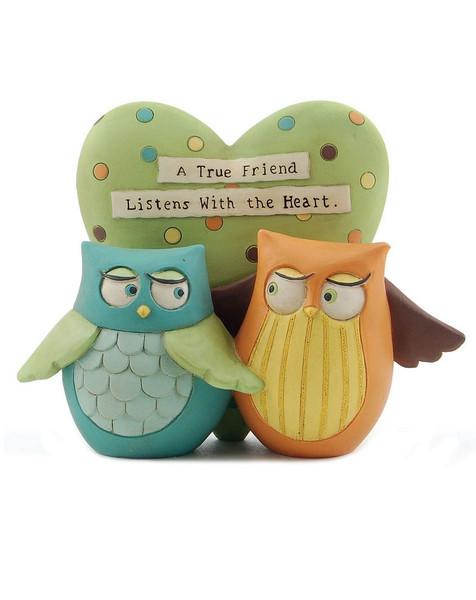 1266-86861 Blossom Bucket A True Friend Owls - Pack of 6