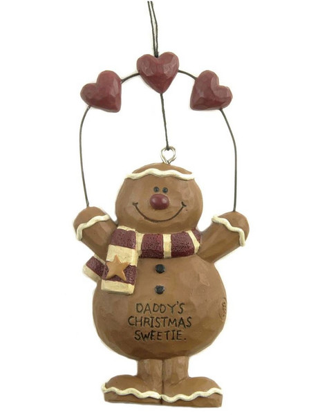 128-51078 Daddy's Christmas Sweetie Gingerbread Ornament - Pack of 9