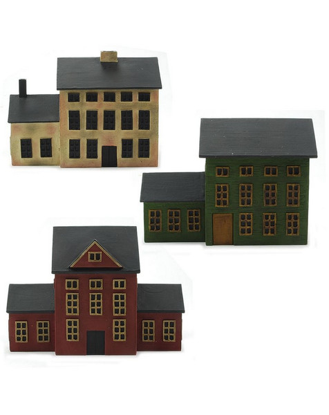 1288-86764 Blossom Bucket Set of 3 Colonial Houses - Pack of 2