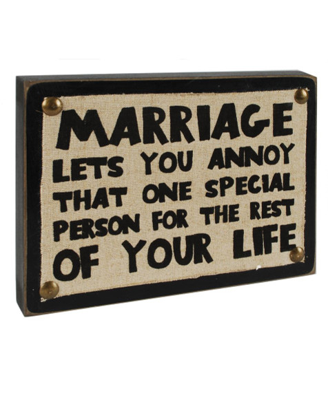 1311-37166 Blossom Bucket Marriage Wall Box Sign - Pack of 5