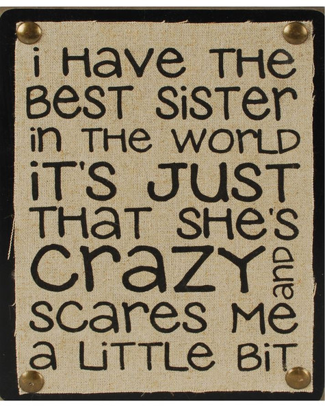 1311-37168 Best Sister In The World Wall Box Sign - Pack of 5