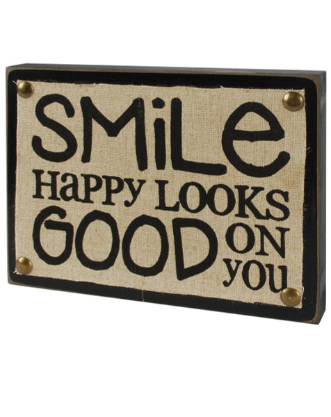 1311-37169 Blossom Bucket Happy Looks Good Wall Box Sign - Pack of 5
