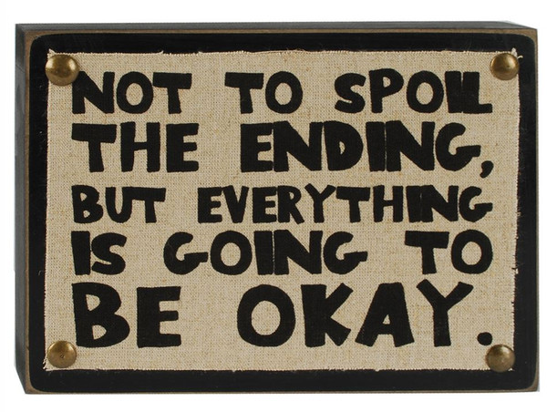 1311-37172 Not To Spoil The Ending Wall Box Sign - Pack of 5