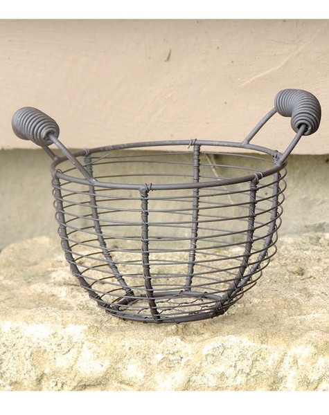 131-36410 Round Mesh Metal Basket With Two Handles - Pack of 13